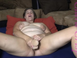 Brunette With Big Boobs Fingering, Using Vibrator And Dildo, Cumming Hard