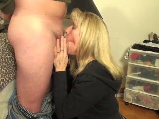 Petite Mature Blonde Enjoys A Suck & Fuck With A Younger Fan