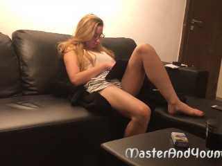 Submissive young Step sister slut has hard fuck with her dominant brother