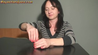 2 cumshots on Maya's cockboard
