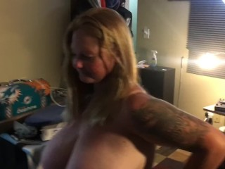 The new whore sucking off friend & I. Bitch sucks me next in another post!