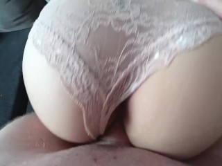 The slut fetches the sperm on her huge anal