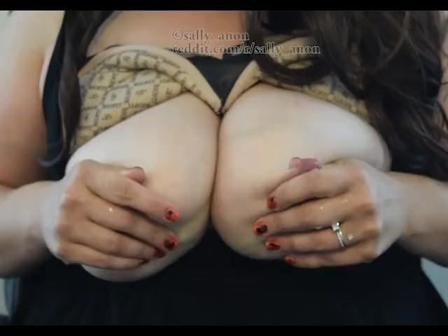 Big Breast Milf Massages Rubs Milky Huge Boobs Sprays Milk