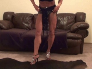 Talk and Tease Sexy Leg Flexy Fantasy Show by Erotic Bombshell LDR