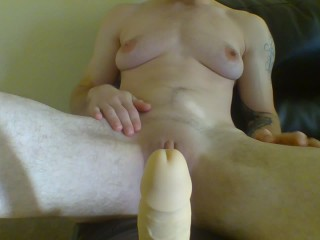 FTM dripping wet after pussy n' anal play, transgender takes it deep