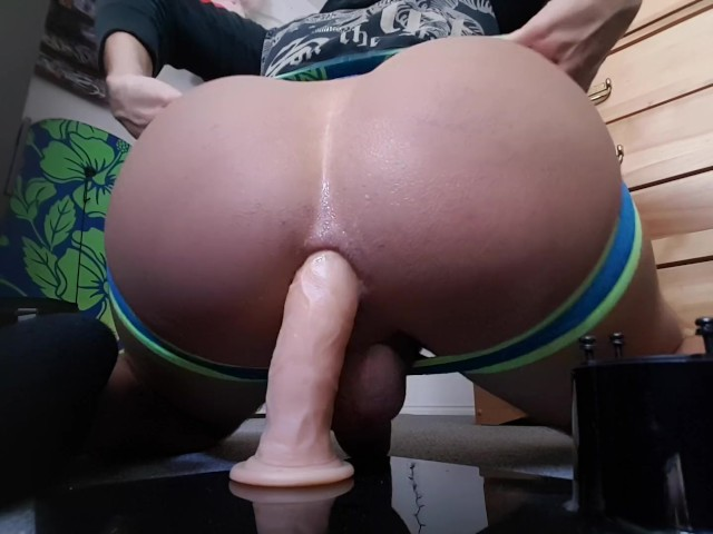 Massive Ass Riding Dildo