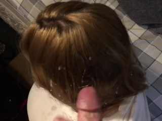 New whore 13 cum shot bitch blasted on compilation with2 friends cum shots
