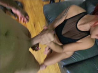 AMAZING BLOWJOB FROM MY HOT REDHEAD WIFE FROM ALL ANGLES!
