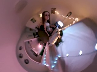 freckledRED Teases Her Pussy & Smokes Weed Live On Cam! 360 hyperframe