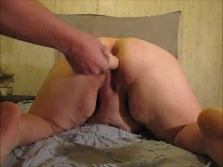 Getting my Fat pussy gapped opened by hubbys dick and two dildos