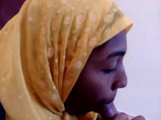 INDIAN MUSLIM GIRL IN HIJAB DEEPTHROAT BLOWJOB AND DRINKING LOT OF MY CUM
