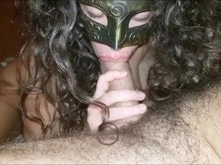 She makes me cum big hard load after perfect blowjob and hard dick ride