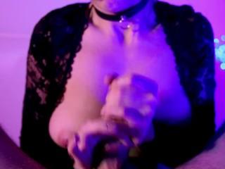 Insta mom MurMur licking and stroking penis