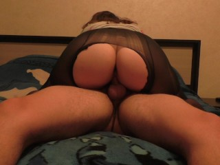 Teen Big Ass Fuck Pussy and Assjob Pussyjob in Nylon Pantyhose Amateur Sex