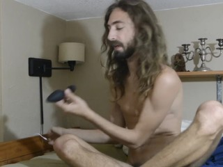 Putting in my buttplug and jacking off before tasting my cum