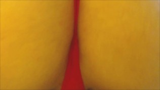 Giantess Smothers You with Giant Ass in Red Lace POV