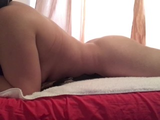 Horny amateur Muslim with hijab creampie pussy play with lovely toy (Arab)