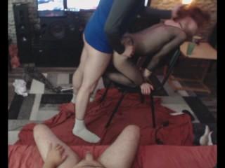 Kinky/husband/wife anal night and cuckold