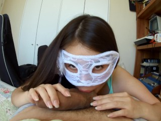 Hot Masked girls rides and get's fucked real good!
