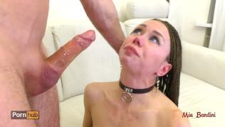 Extreme brutal deethroat choking face fuck. Mia Bandini