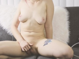 Redhead Dildo Riding And Squirting