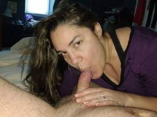 Wife teasing cock gets fucked doggy and toes covered in CUM!!