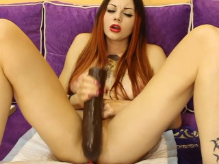 Moon Christine makes another crazy squirt with big brown