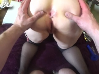 Rude PAWG wife training her round ass to gape with dildos and butt plugs