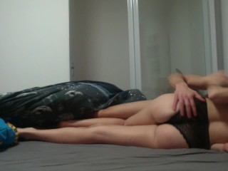 Passionate Teen Brunette Riding Big Dick on Top and Orgasm Doggystyle