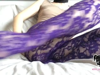 Kitty Cum Face Fucks her tight fat ass for the very first time.