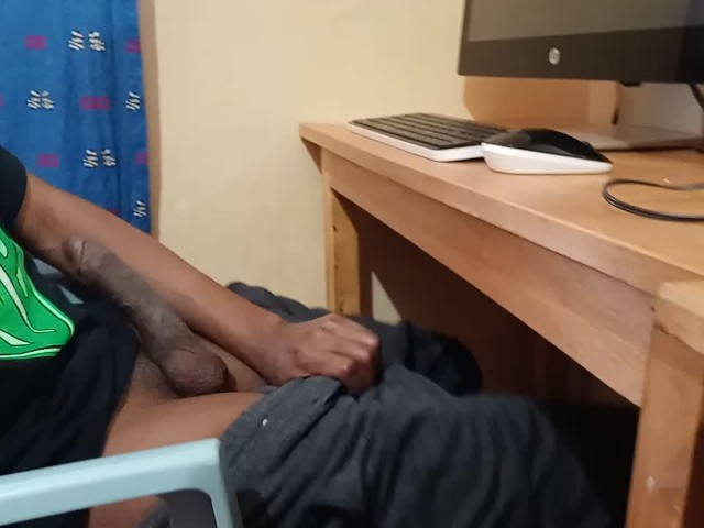 Jerking Off Under Table - Spy Camera Films Straight Brother Jerking Off to Porn - Free ...