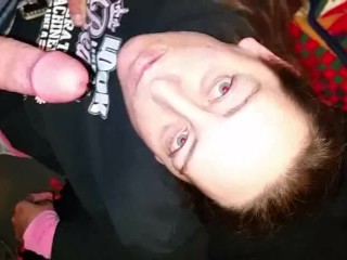 My whore wife sucking my cock until I cum on her face