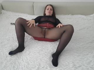 Hot wife in pantyhose Fucks with her husband's friend.