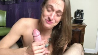 Sexy Hippies POV Massive Facial after Sloppy BJ & Shamless RimJob