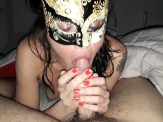 Very hot Russian Girl sucking a big cock with passion