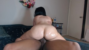 Sexy redbone rides neighbors cock while hubby's gone!