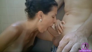 And again wonderful wet blowjob. Hot cum for Julia. Event 4.