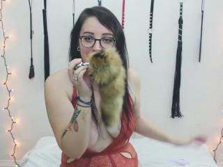 Fox Tail Anal & Pussy Masturbation