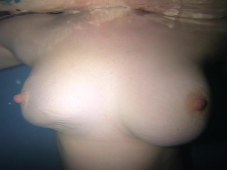 Underwater Ginger Teasing with Beautiful Curves Hills and Sacred Corners