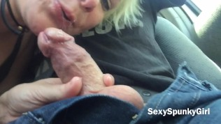 Risky Public Car Blow Job & Cum Swallow At Mexican Border – SexySpunkyGirl