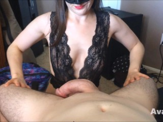 Blowjob/huge cumshot during masterfully pov
