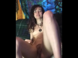 Petite Teen Fingers Tight Pussy for the first time