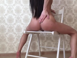 Skinny Teen Enjoying Anal Fingering and Pussy Rubbing