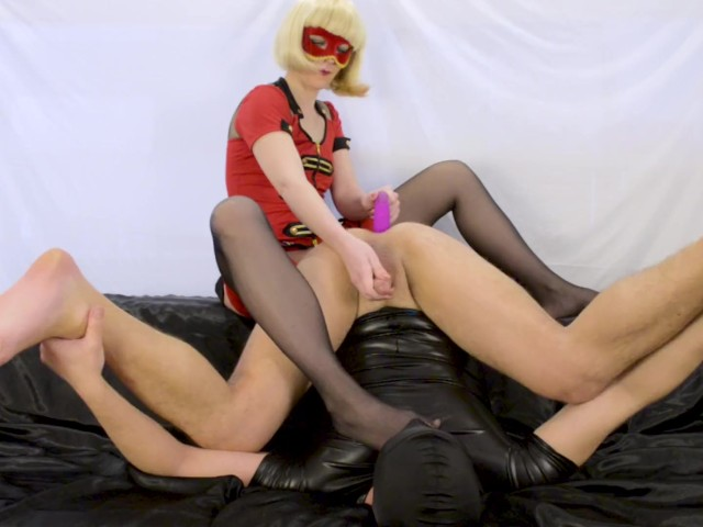 Blonde Milf Prostate Milking With Strapon, Femdom Foot ...