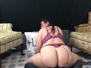 Huge anus Plumper bounces on huge fuck toy for you! Brunette Chubby lusty hot.