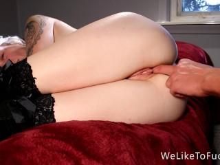 Taking his big dick deep, slow and sensual
