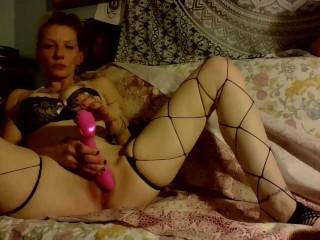 Stella's pink pussy CLOSE UP HARD PULSING ORGASM DRIPPING CUM