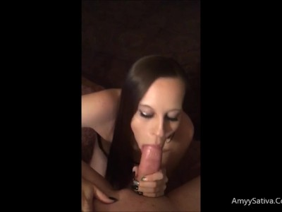 Amyy Sativa Sucks huge cock for Snapchat