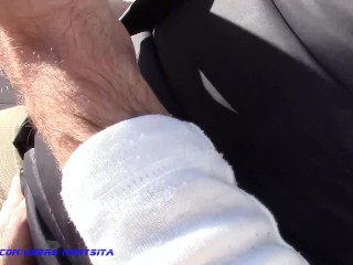 FUNNY AND SEXY BLOWJOB OUTDOORS! GREAT HUGE FACIAL (POV)