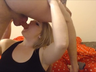Blonde Teen Gives Blowjob and Gets Cumshot